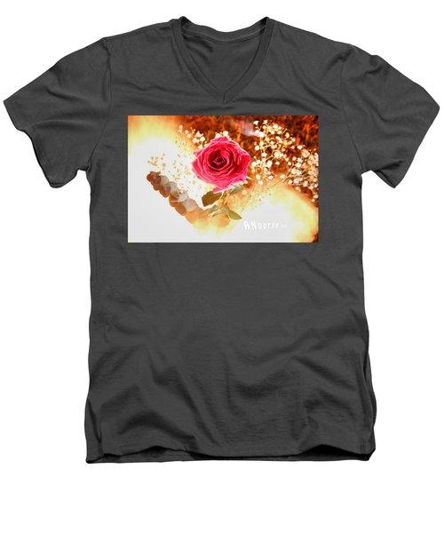 Hot Beauty Men's V-Neck T-Shirt by Andrew Nourse