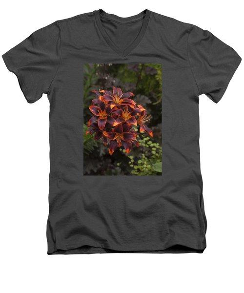 Hot Bouquet Men's V-Neck T-Shirt by Morris  McClung
