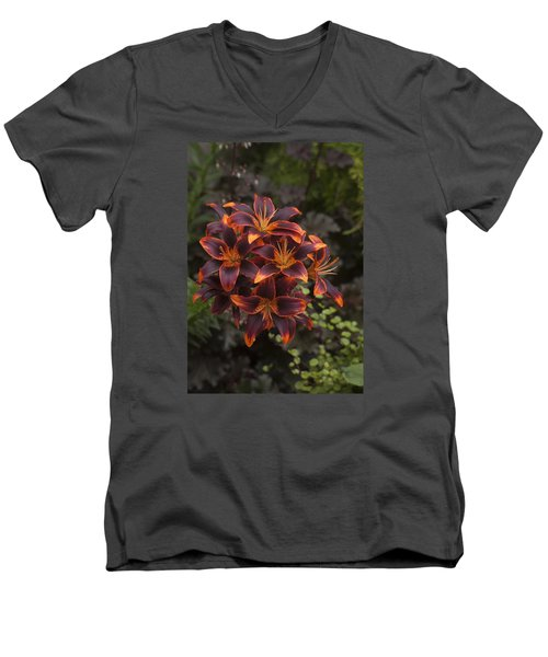 Hot Bouquet Men's V-Neck T-Shirt