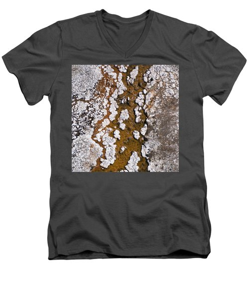 Hot Cascades Abstract Men's V-Neck T-Shirt