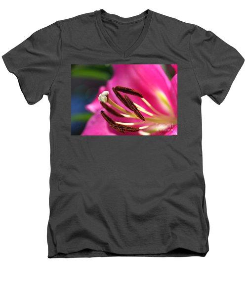 Hot Is Lily Men's V-Neck T-Shirt