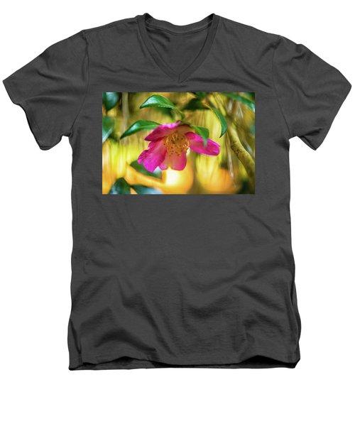 Hot Pink  Men's V-Neck T-Shirt