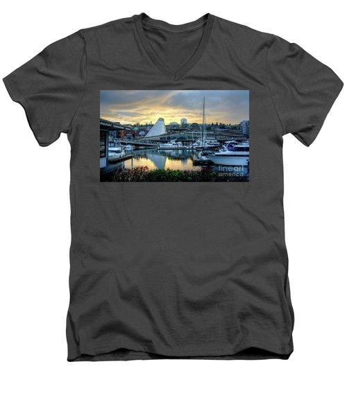 Hot Shop Cone Cloudy Twilight Men's V-Neck T-Shirt
