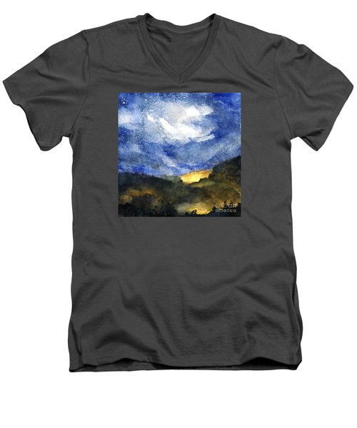 Hot Spots In Our Mountains Tonight Men's V-Neck T-Shirt by Randy Sprout