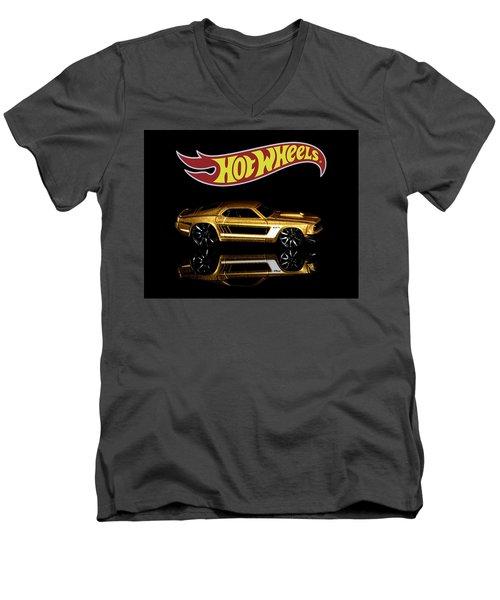 Hot Wheels '69 Ford Mustang Men's V-Neck T-Shirt