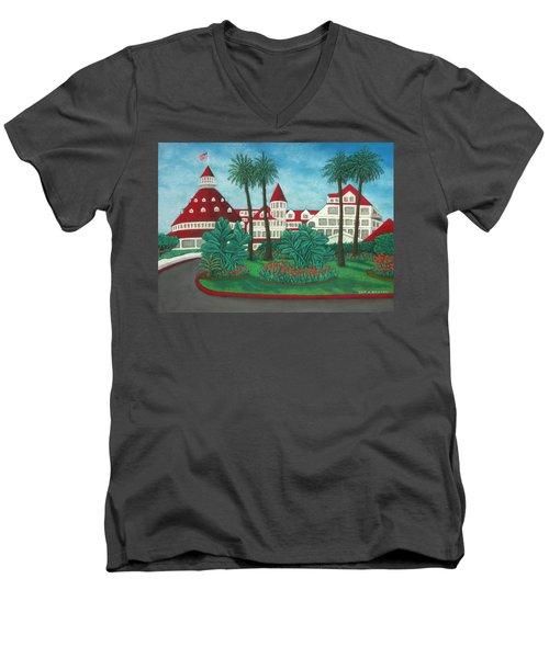 Hotel Del Coronado Men's V-Neck T-Shirt