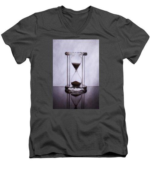 Hourglass - Time Slips Away Men's V-Neck T-Shirt by Tom Mc Nemar