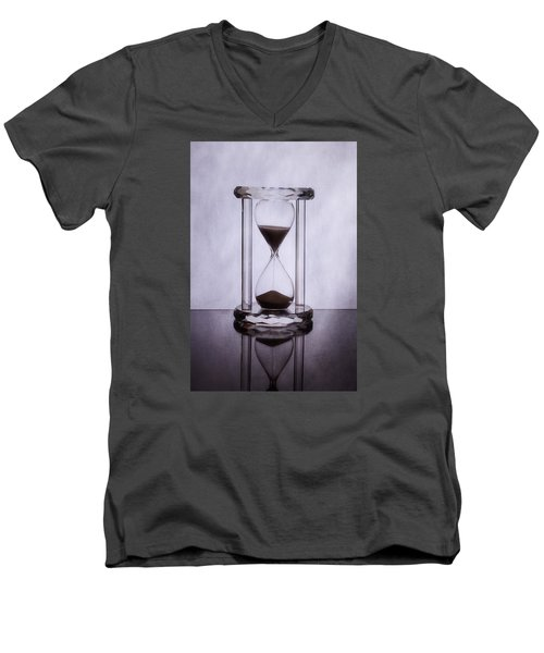 Hourglass - Time Slips Away Men's V-Neck T-Shirt