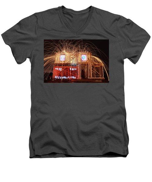 House Head 24 Men's V-Neck T-Shirt by Andrew Nourse