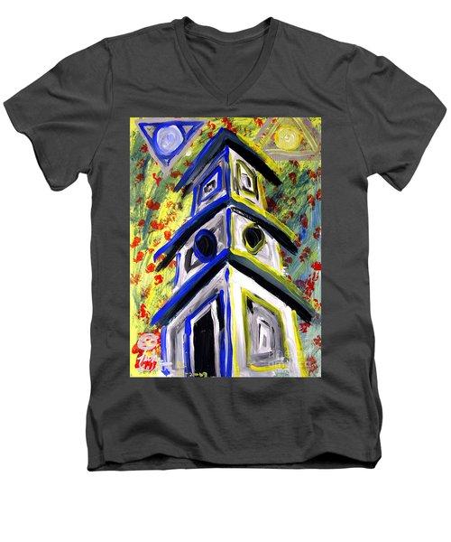 House Men's V-Neck T-Shirt by Luke Galutia