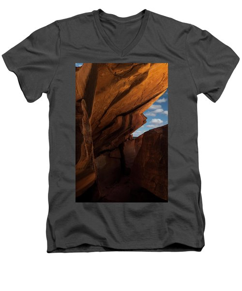 House On Fire Look Through Men's V-Neck T-Shirt by Gary Warnimont