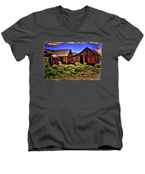 House, Shed And Outhouse Bodie Ghost Town Men's V-Neck T-Shirt