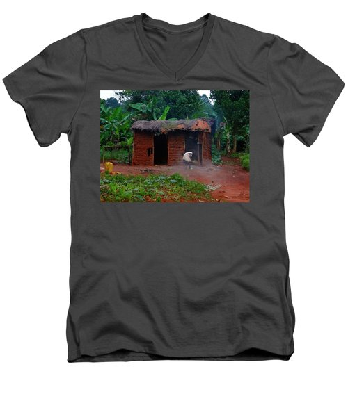 Housecleaning Africa Style Men's V-Neck T-Shirt by Exploramum Exploramum