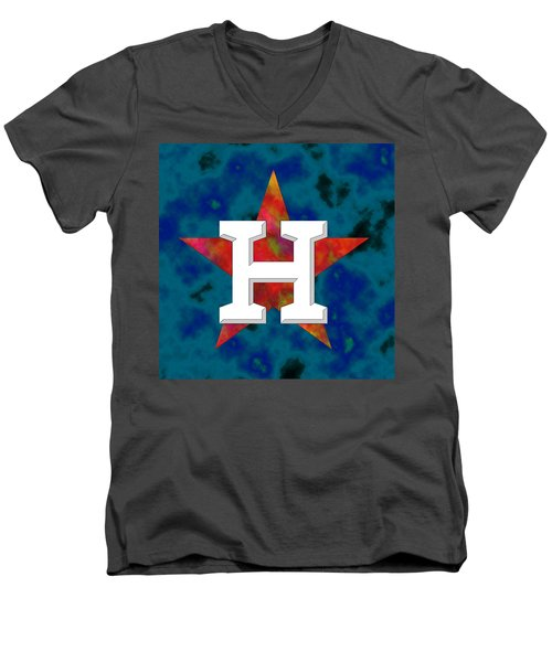 Houston Astros Logo Men's V-Neck T-Shirt