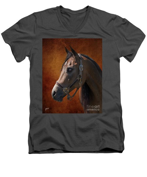Houston Men's V-Neck T-Shirt by Jim  Hatch