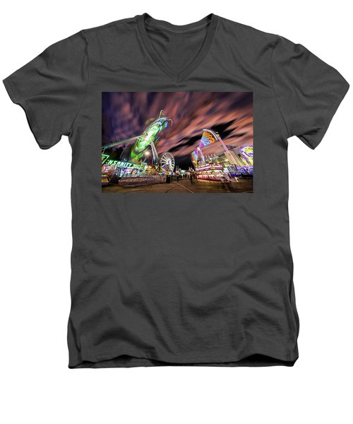 Houston Texas Live Stock Show And Rodeo #1 Men's V-Neck T-Shirt by Micah Goff