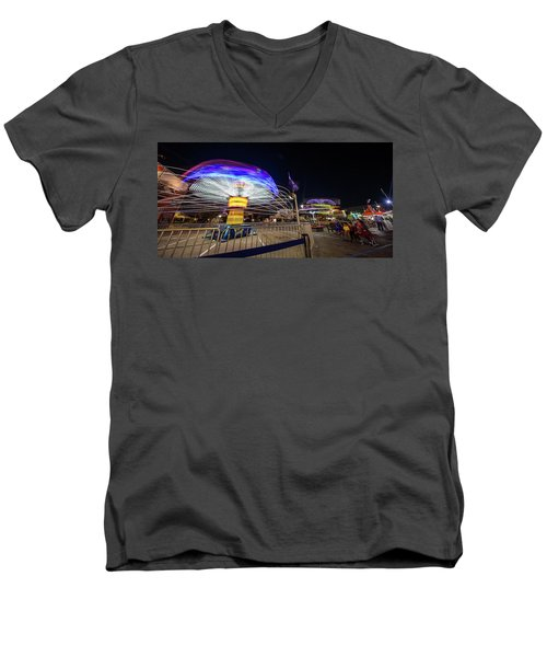 Houston Texas Live Stock Show And Rodeo #10 Men's V-Neck T-Shirt by Micah Goff