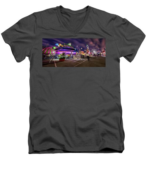 Houston Texas Live Stock Show And Rodeo #2 Men's V-Neck T-Shirt by Micah Goff