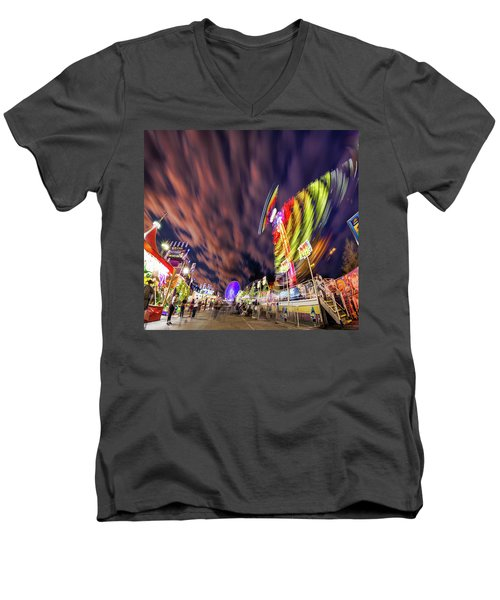 Houston Texas Live Stock Show And Rodeo #3 Men's V-Neck T-Shirt by Micah Goff