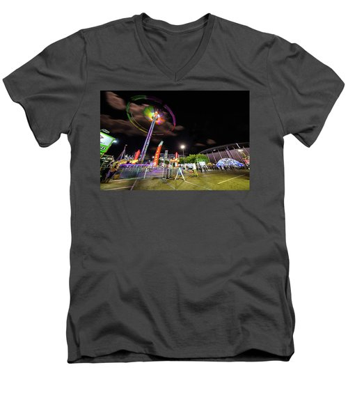 Houston Texas Live Stock Show And Rodeo #7 Men's V-Neck T-Shirt by Micah Goff