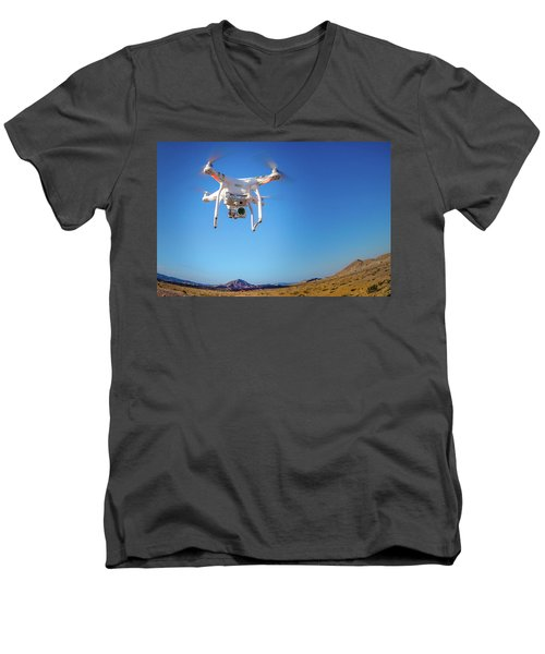Hover Men's V-Neck T-Shirt by Mark Dunton