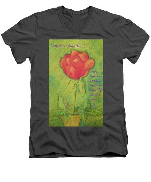 How Do I Love Thee ? Men's V-Neck T-Shirt