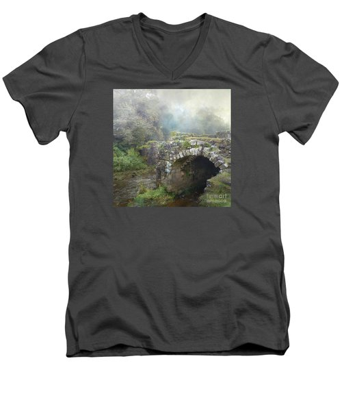 Men's V-Neck T-Shirt featuring the photograph How Much Do You Love Her? by LemonArt Photography