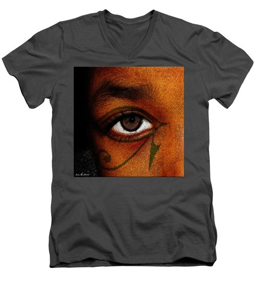 Hru's Eye Men's V-Neck T-Shirt by Iowan Stone-Flowers