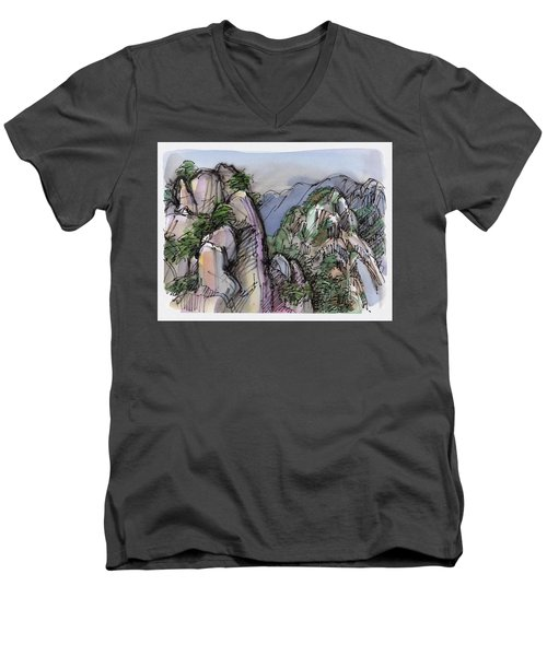 Huangshan, China Men's V-Neck T-Shirt