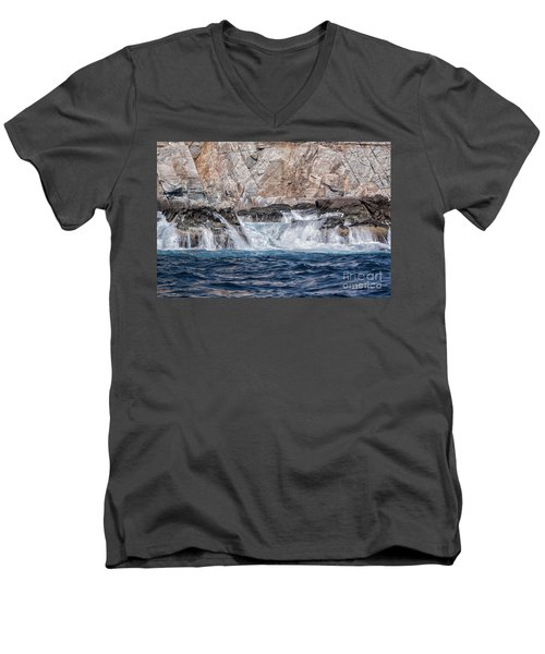 Huatulco Textures Men's V-Neck T-Shirt by Ana Mireles