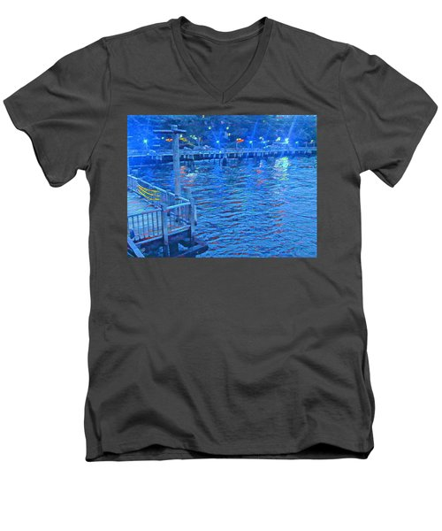 Hudson Electric Men's V-Neck T-Shirt