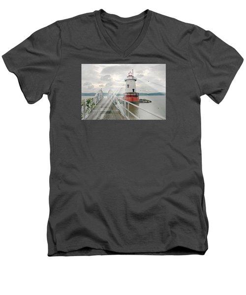 Hudson Light Men's V-Neck T-Shirt by Diana Angstadt