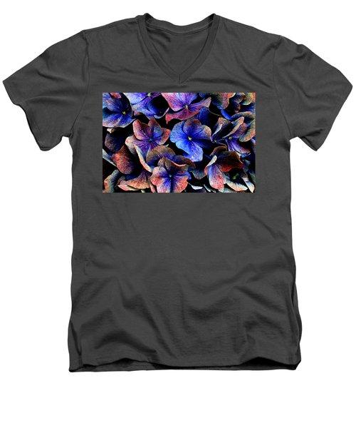 Hues Men's V-Neck T-Shirt