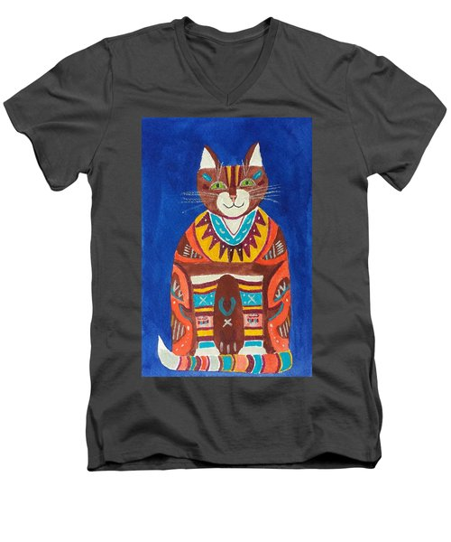 Huey Cat Men's V-Neck T-Shirt