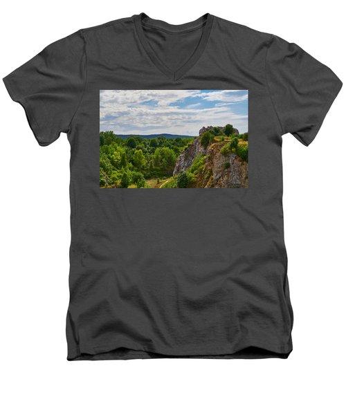 Hug A Rock Men's V-Neck T-Shirt