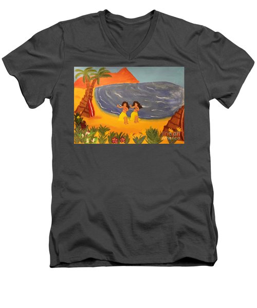 Hula Girls Men's V-Neck T-Shirt