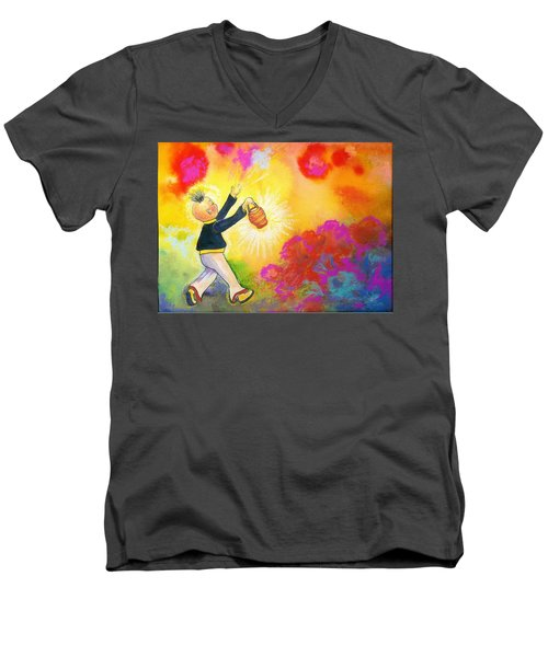 Hum Spreading Chi Men's V-Neck T-Shirt