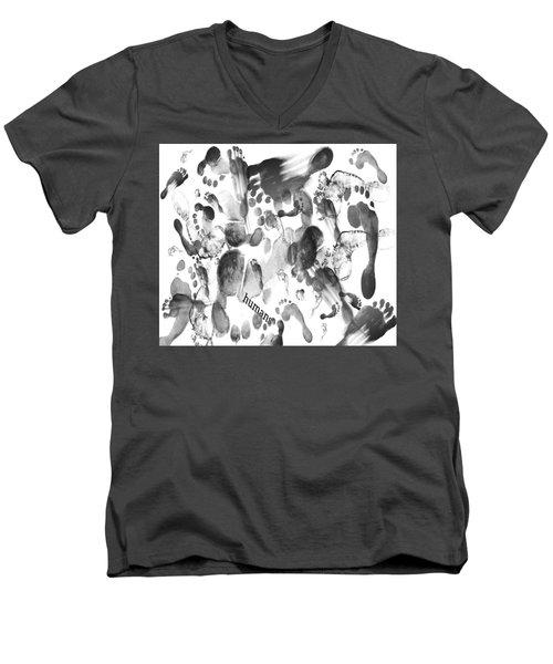 Humans Men's V-Neck T-Shirt by Sladjana Lazarevic
