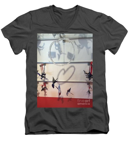Hummingbird Shadows Men's V-Neck T-Shirt