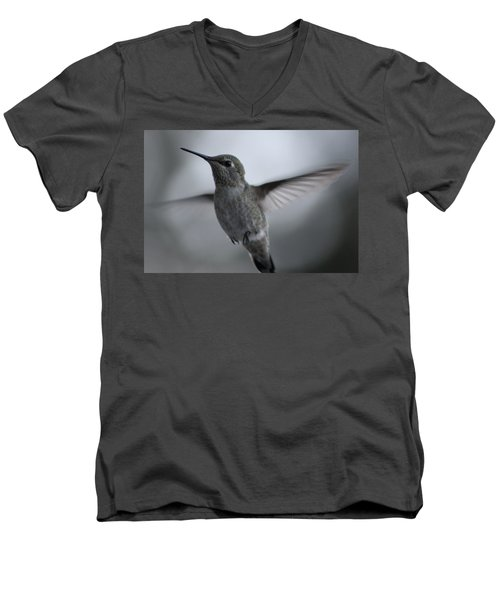 Men's V-Neck T-Shirt featuring the photograph Hummm by Cathie Douglas