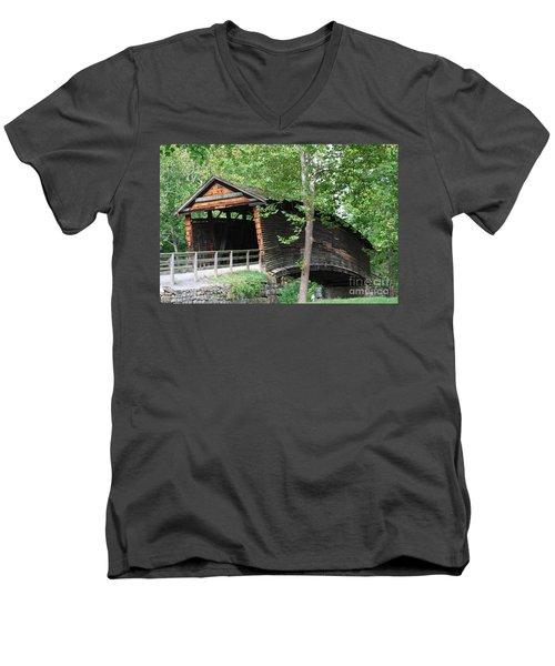 Humpback Bridge Men's V-Neck T-Shirt by Eric Liller