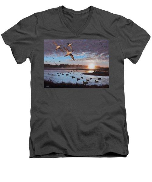 Humphrey Farm Pintails Men's V-Neck T-Shirt