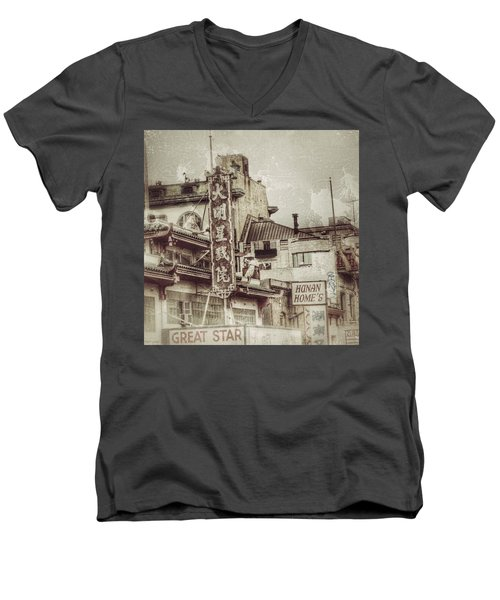 Hunan Home's  Men's V-Neck T-Shirt