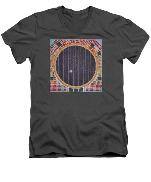 Hundertwasser Shuttle Window Men's V-Neck T-Shirt