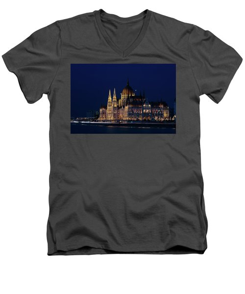 Hungarian Parliament Building #1 Men's V-Neck T-Shirt