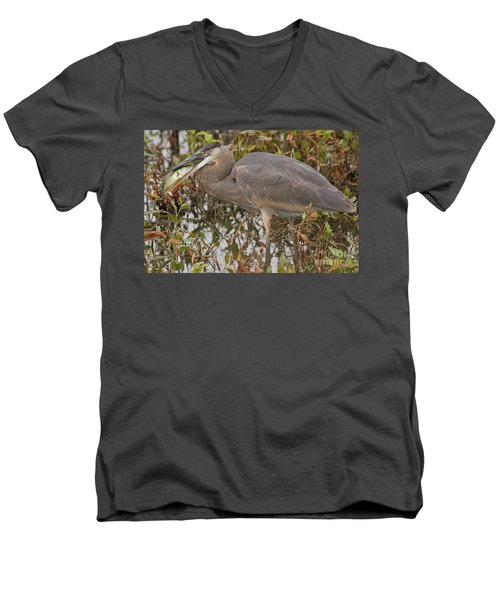 Hungry Heron Men's V-Neck T-Shirt