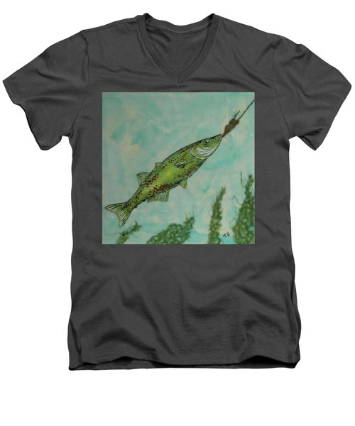 Hungry Men's V-Neck T-Shirt by Terry Honstead