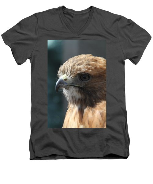 Men's V-Neck T-Shirt featuring the photograph Hunter's Spirit by Laddie Halupa