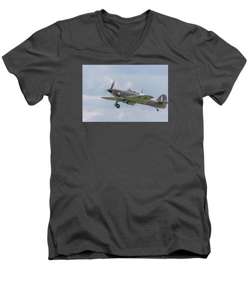 Hurricane Taking Off Men's V-Neck T-Shirt by Gary Eason