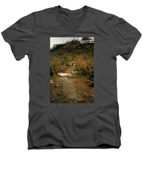 Hurricane12 Men's V-Neck T-Shirt by Robert Nickologianis